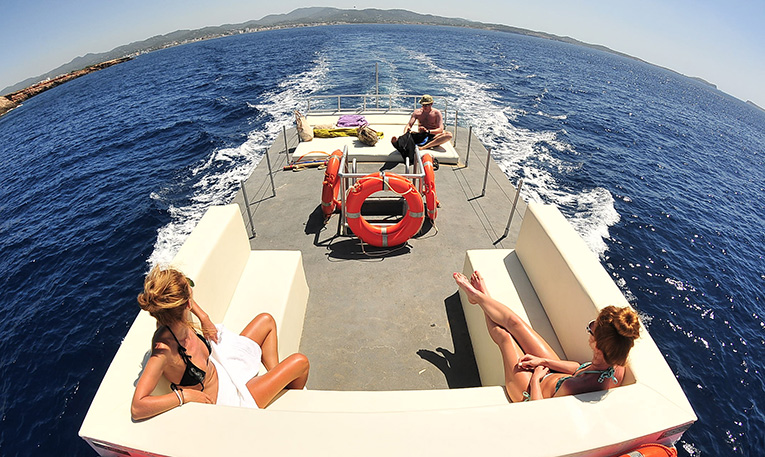 Party boat ibiza in our catamaran for 41 passengers