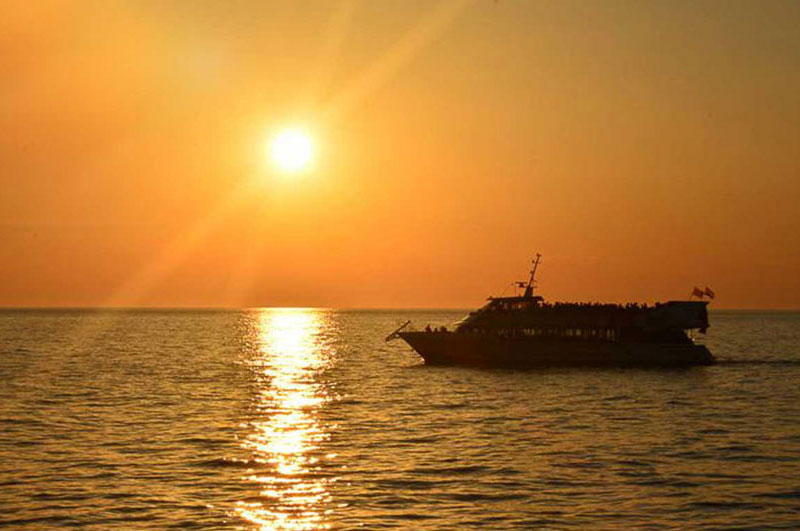 Sunset boat party in Ibiza