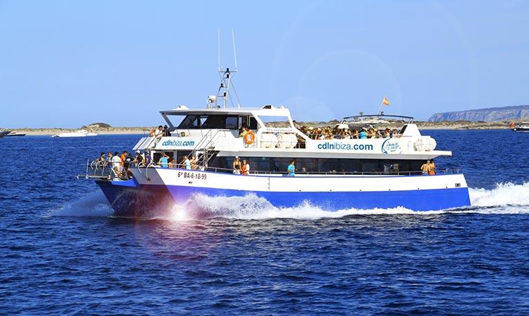 Ibiza boat hire service for 200 passengers