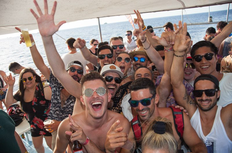 Ibiza catamaran trips and boat parties
