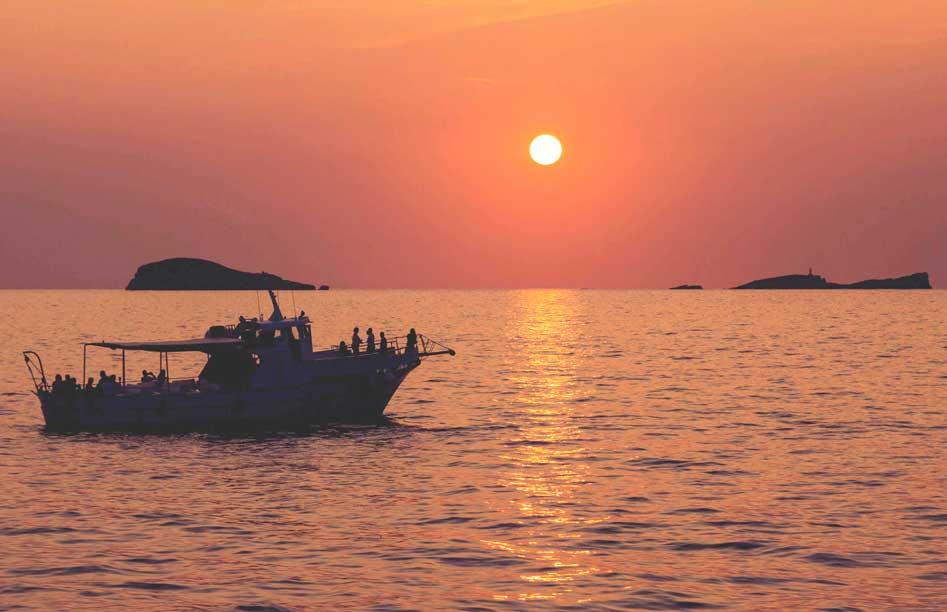 Sunset boat trips ibiza